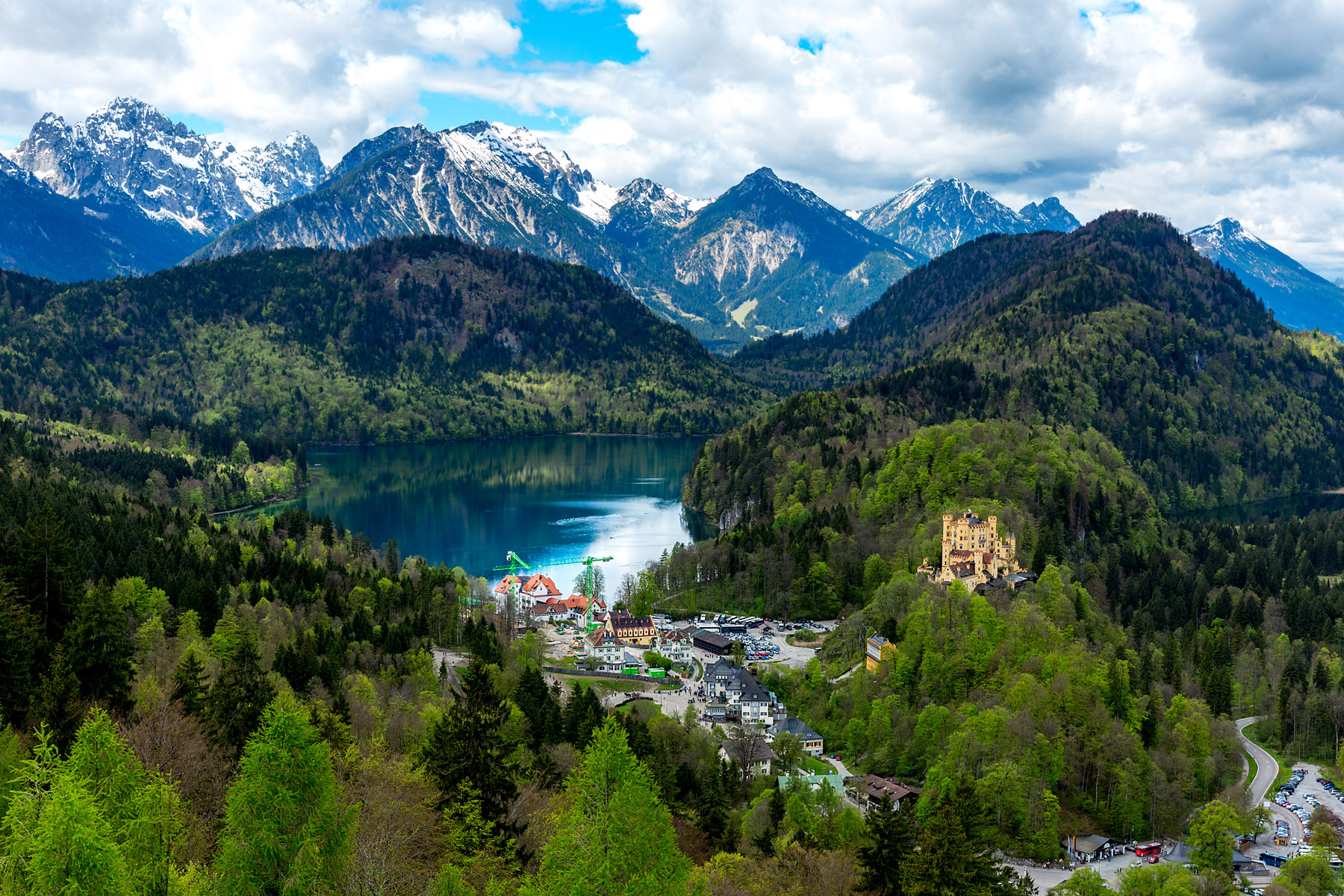 The view from Neuschwanstein.